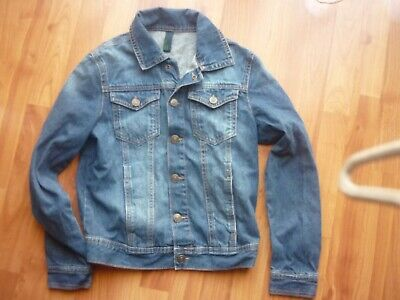 Girls Benetton denim jacket with popper fastening  excellent 10-11 y 150cm