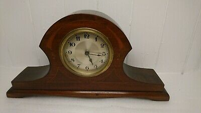 Antique Victorian Inlaid Wooden Mantle Clock. Quality Made Piece
