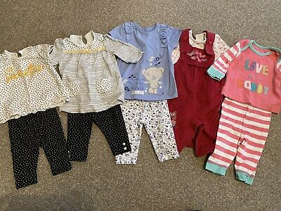 5 Baby Girl Outfits 0-3 Months Superb Condition