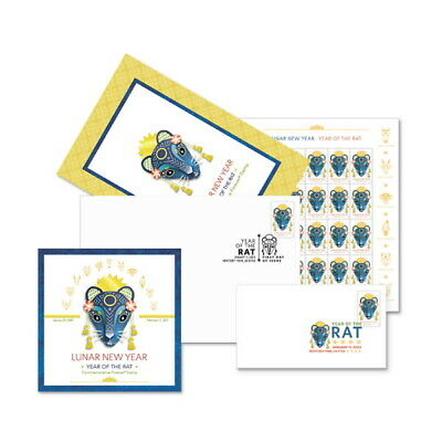 USPS New Lunar New Year - Year of the Rat Stamp Ceremony Memento