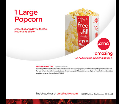 AMC Theatres - 1 Large Drink & 1 Large Popcorn - eDelivery