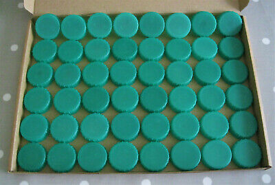 50 x Green Plastic Milk Bottle Tops Caps Lids - School, Nursery Arts & Crafts