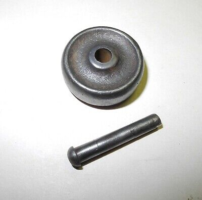 """Early Singer Treadle Sewing Machine Cast Base Wheel, 1/2"""" Wide, Pin/Axle"""