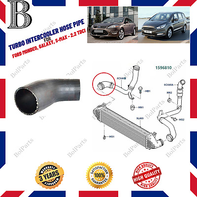 FORD MONDEO MK4 S-MAX  2.2 TDCI 06//16 INTERCOOLER HOSE EGR TURBO PIPE 1596810