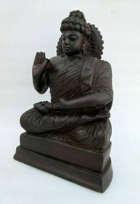 Old Hand Carved wooden Collectible Saint Buddha Meditation pose Statue, Idol