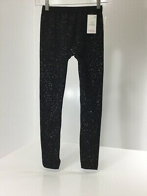 Capelli Girls Youth Fleece Lined Seamless Sparkle Leggings Black Size 12/14 NWT@