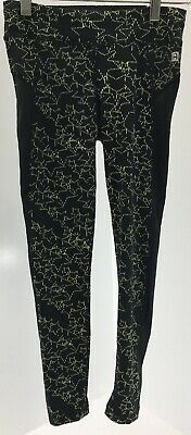 Rockets Of Awesome Youth Girls Star Active Full Length Leggings Black Sz 7 NWT #