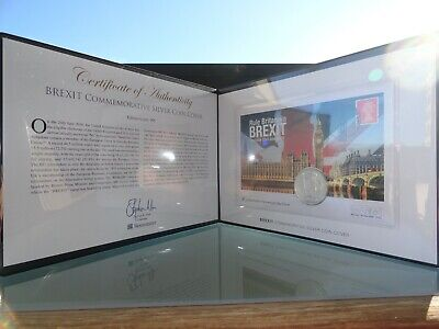 Westminster Brexit Commemorative Silver Coin Cover Limited Edition No.180 + Coa!