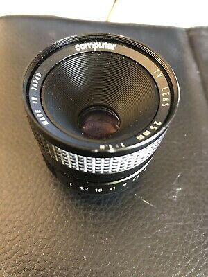 Computar lens 25mm f/1.8 C-mount for television & movie cameras