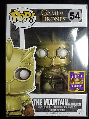 Funko Pop The Mountain Armored Game of Thrones #54 SDCC *With Protector!*