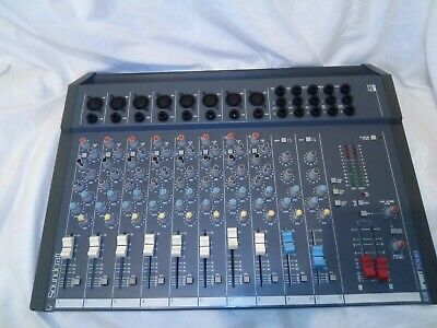 Soundcraft Spirit Folio 12/2 12-Channel Mixer working but missing charger