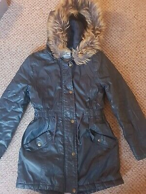 M&S Girls Navy Parka Coat Age 9-10 Years