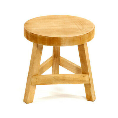 Wooden Foot Stool Home Decor New Shabby Chic Rustic New Kitchen Dining Furniture