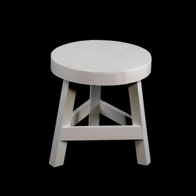 White Foot Stool Home Decor New Shabby Chic Rustic Wood Kitchen Dining Furniture