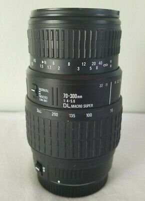 Sigma 70-300mm 1:4-5.6 DL Macro Super Lens for Canon *MANUAL FOCUS ONLY*