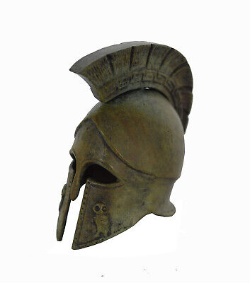 Corinthian Mini Bronze Helmet with Owl carvings - Museum replica Made in Greece
