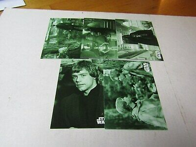 STAR WARS B & W  RETURN of the JEDI  GREEN HUE PARALLEL LOT 9 CARDS No Dups #/99