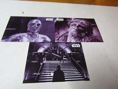 STAR WARS B & W RETURN of the JEDI  PURPLE HUE PARALLEL LOT 3 CARDS No Dups #/25