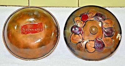 "Mid Century Modern bowl with lid enamel on copper Signed (058) 5.5"" X2.5"""