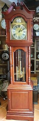 Mahogany 8 Day Triple Chime Grandfather Clock, Delivery Arranged