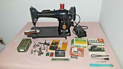 EE927832 Singer 201k Sewing Machine Heavy Duty belt Driven Perfect (N311a)p1