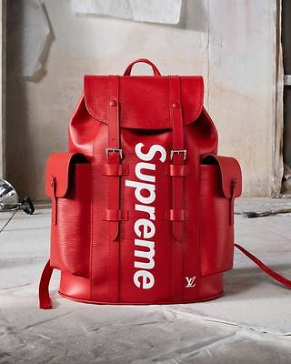 LOUIS VUITTON X SUPREME CHRISTOPHER EPI LEATHER BACKPACK RUCKSACK