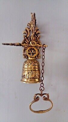 Highly decorative antique bronze door bell
