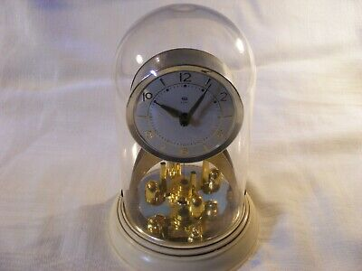 old vintage 8 days table/mantler clock-works then stops-spares/repairs