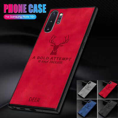 Shockproof Hybrid Silm Fabric Soft TPU Bumper Case Cover For Samsung Note 10 +