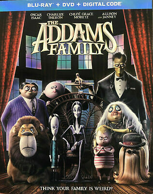 THE ADDAMS FAMILY (Blu-ray + DVD + Digital Code + SlipCover, 2020) NEW SEALED