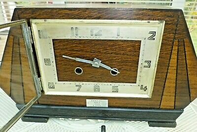 Lovely Mantel  clock 8 Day 1934 Pendulum driven, strikes ½ & Hr fully working