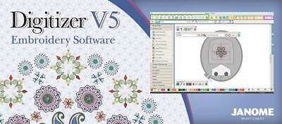 Janome Digitizer Embroidery Software 30 Day Trial Disc Latest UK Version v5.0