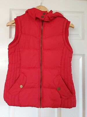 ladies red body warmer gillet peacocks size 8 ex con