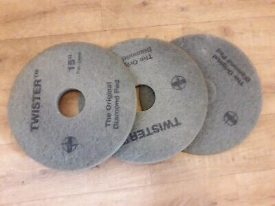 """3x 15"""" Green (Partly used) HTC Twister Cleaning Pads"""