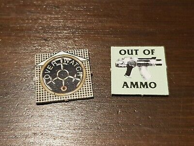 Games Workshop Advanced Space Crusade Token OVER WATCH OUT OF AMMO (Price Each)