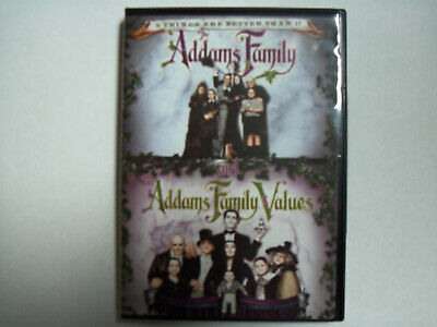 The Addams Family/Addams Family Values - DVD - Very Good Condition