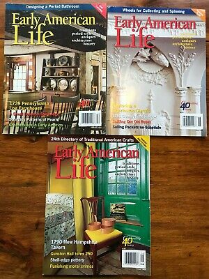 Early American Life Magazine Lot from 2009. Feb., June, August Issues