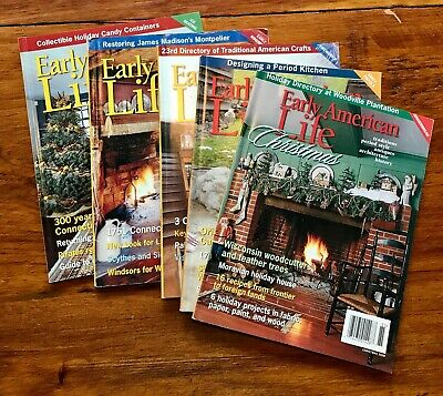 Early American Life Magazine Lot from 2008. 5 Issues including Christmas Issue