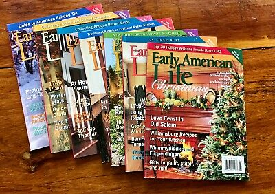 Early American Life Magazine Lot from 2006. 7 Issues including Christmas Issue