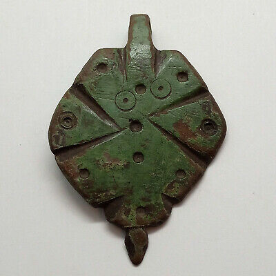 Bronze Large  Amulet Pendant Orion / Solar signs / 800-1200AD. Viking Rus