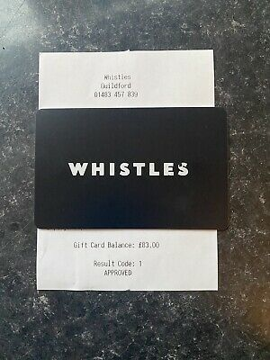 WHISTLES GIFT CARD £83 For use In Store Only