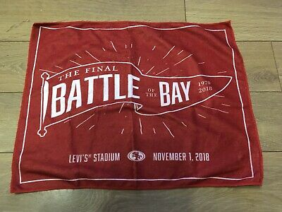 San Francisco 49ers Oakland Raiders Final Battle of the Bay Rally Towel Red NFL