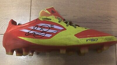 Gareth Bale Signed Match Worn Red Adidas Football Boots Wales Real Madrid Spurs