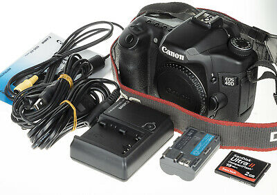 Canon EOS 40D camera body +2GB CF, USB-, A/V cable | 18.8k clicks | very good c.