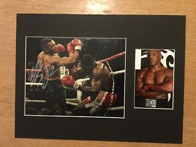 MIKE TYSON 16x12 BOXING LEGEND MOUNTED MONTAGE COA FREE P&P