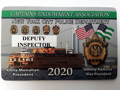 "1 2020 Authentic ""Rare Cea  Pba Deputy Inspector Card Not A Lba Sba Dea Pba Card"