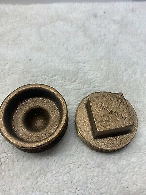 "Two 2"" Male Brass Threaded Cap NEW Open Box"