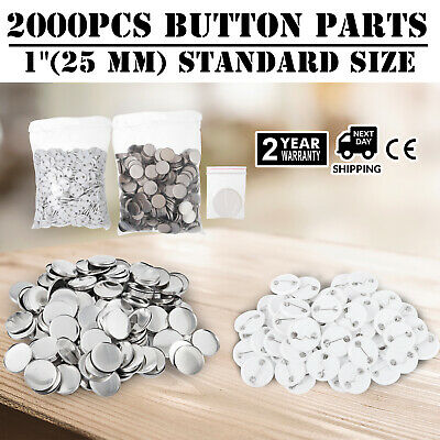 """2000Pcs 25mm 1"""" Button for Badge Maker Machine Top/Bottom easy operate light"""