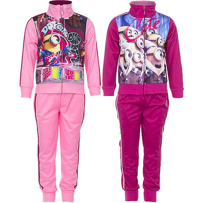 New Jogging Suit Set Leisure Sports Girl Minions Pink Pink 98 104 116 128 #3