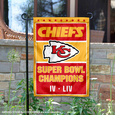 Kansas City Chiefs Super Bowl 2 Time Champions Double Sided Garden Flag